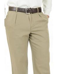 Férfi bézs vászon nadrág