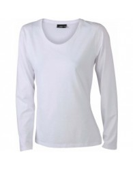 James & Nicholson Női Fehér színű hosszú ujjú póló