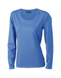 James & Nicholson Női Kék színű hosszú ujjú póló