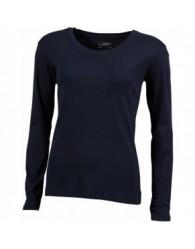 James & Nicholson Női sötétkék színű Hosszú ujjú póló