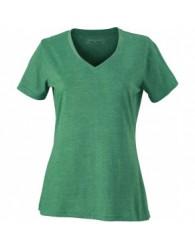 James & Nicholson Zöld színű női V-nyakú póló