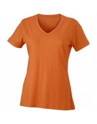 James & Nicholson Narancs színű női V-nyakú póló