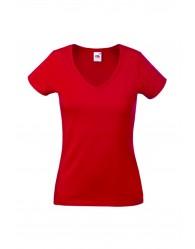 Fruit of the Loom Karcsúsított piros női póló