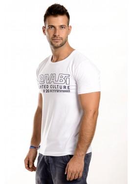 Férfi fehér színű feliratos póló