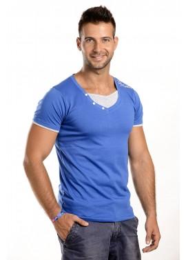 Férfi kék-szürke színű póló