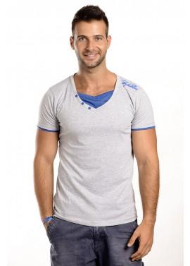 Férfi szürke-kék színű póló