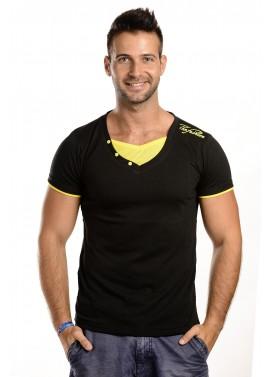Férfi fekete-sárga színű póló