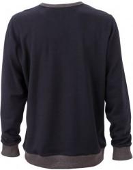 James & Nicholson Elegáns Férfi Kerek nyakú sötétkék színű pulóver