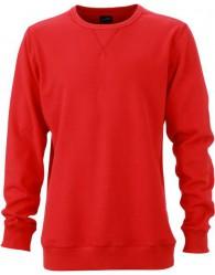 James & Nicholson Elegáns Férfi Kerek nyakú piros színű pulóver