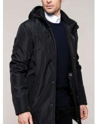 Fekete bélelt férfi dzseki