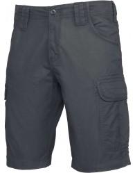 FÉRFI sötétszürke színű Bermuda nadrág