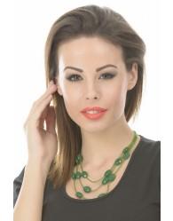 Zöld  Női Nyaklánc Kétsoros