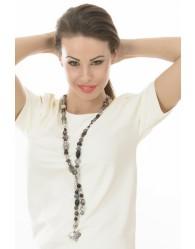 Fekete női nyaklánc